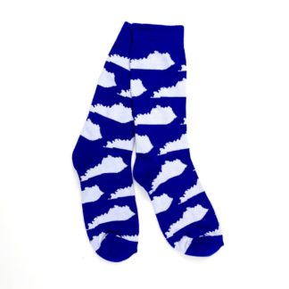 Kentucky Shape Socks (Blue and White)