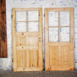 Vintage Paneled Wood Door