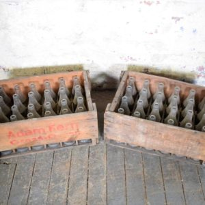 Vintage Wood Crate with Soda Bottles