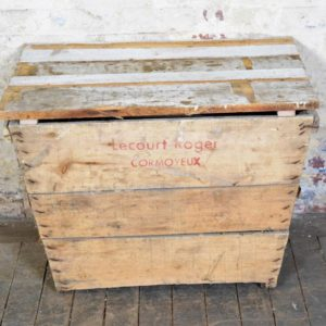 Vintage Wood Crate with Lid