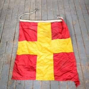 Vintage Maritime Signal Flag