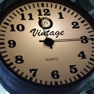 Vintage Quartz Hanging Clock