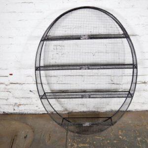 Oval Metal Wall Shelf