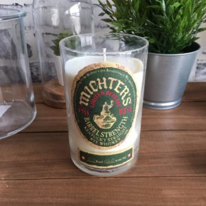 recycled michters small batch rye bourbon candle