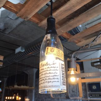 Recycled Booker's Bourbon Bottle Pendant Light