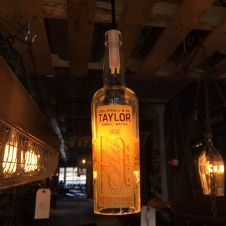 Recycled Col. E.H. Taylor Bottle Pendant Light