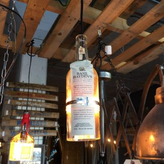 Recycled Basil Hayden's Bottle Pendant Light