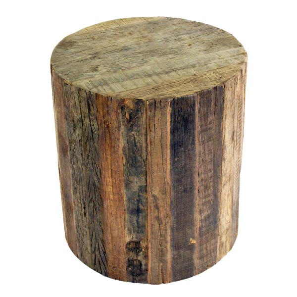 Reclaimed Wood Rolling Stool