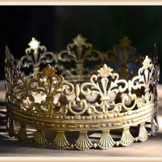 Metal Gold Lace Edge Crown
