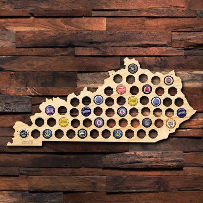 """18"""" Kentucky Beer Cap Map"""
