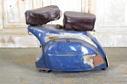Vintage Blue Scooter Seat Stool