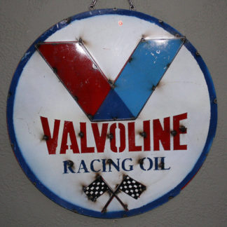 Metal VALVOLINE RACING OIL Sign