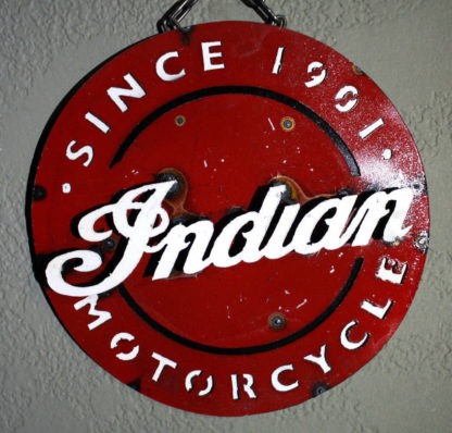 Metal INDIAN MOTORCYCLES Sign