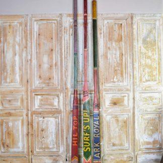 Vintage Painted Oars