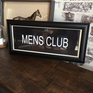 MENS CLUB Framed Print
