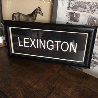 LEXINGTON Framed Print