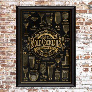 Framed Bold Cocktails Print