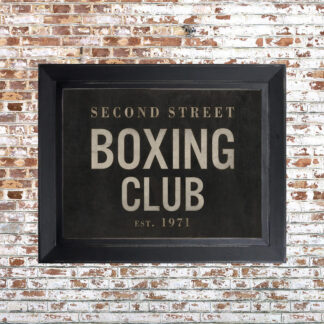 Distressed Boxing Club Framed Print