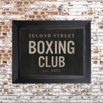 Distressed Boxing Club Framed Print