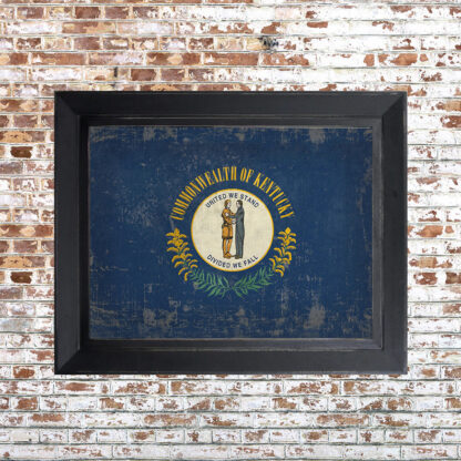 Distressed Kentucky Flag Framed Print