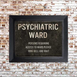 Distressed Psych Ward Framed Print